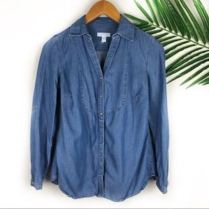 Charter Club Petite Denim Button Down 4P